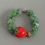 Zielona z truskawką